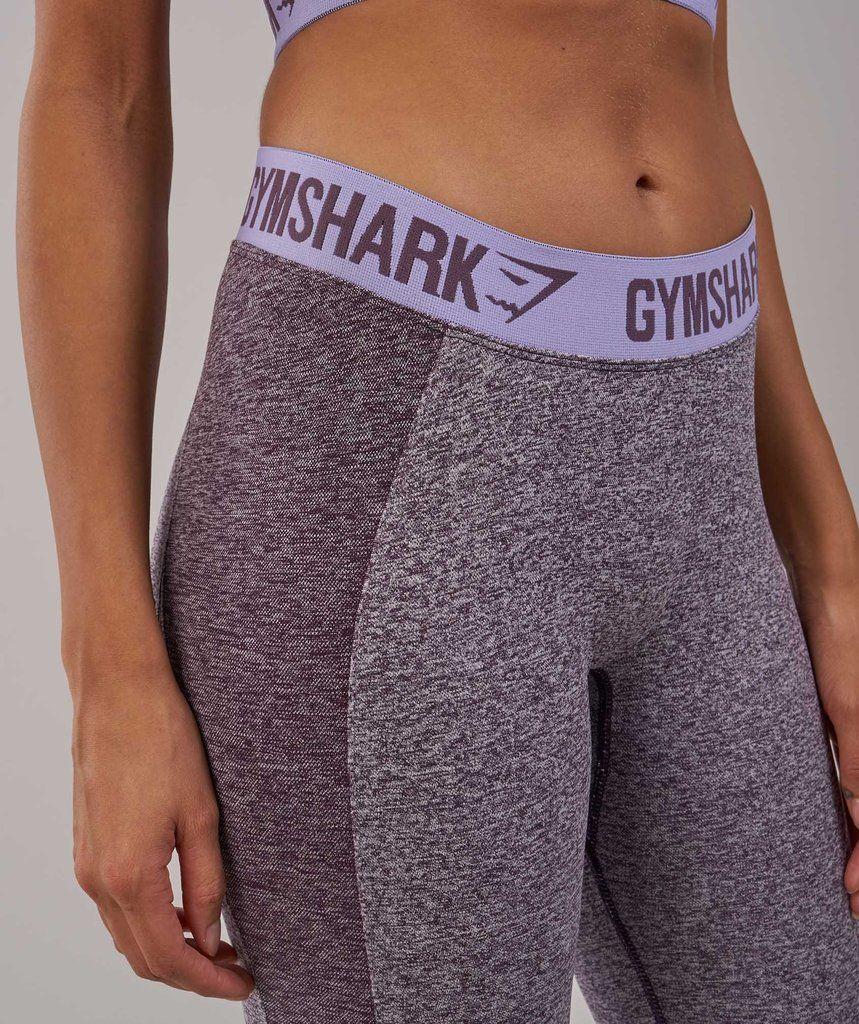 Gymshark Flex Leggings Purple Wash Marl/Pastel Lilac 5