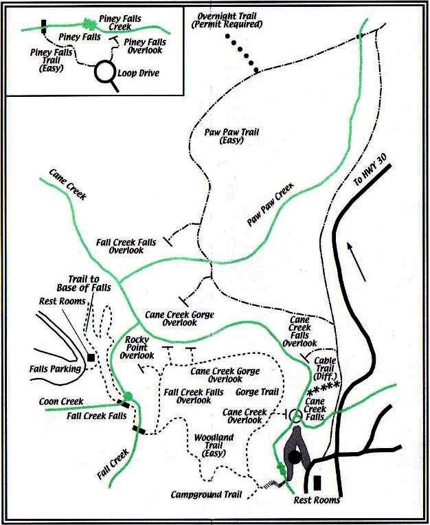Fall Creek Falls Cground Map Trail Cing Pinterest: Fall Creek Falls State Park Map At Codeve.org
