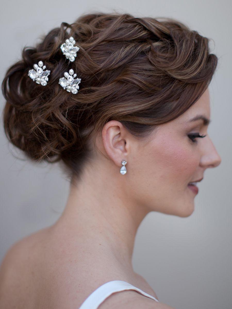 Rhinestone and Pearl Hair Pin ~ Michaela, $22.00 | Hair Comes the Bride