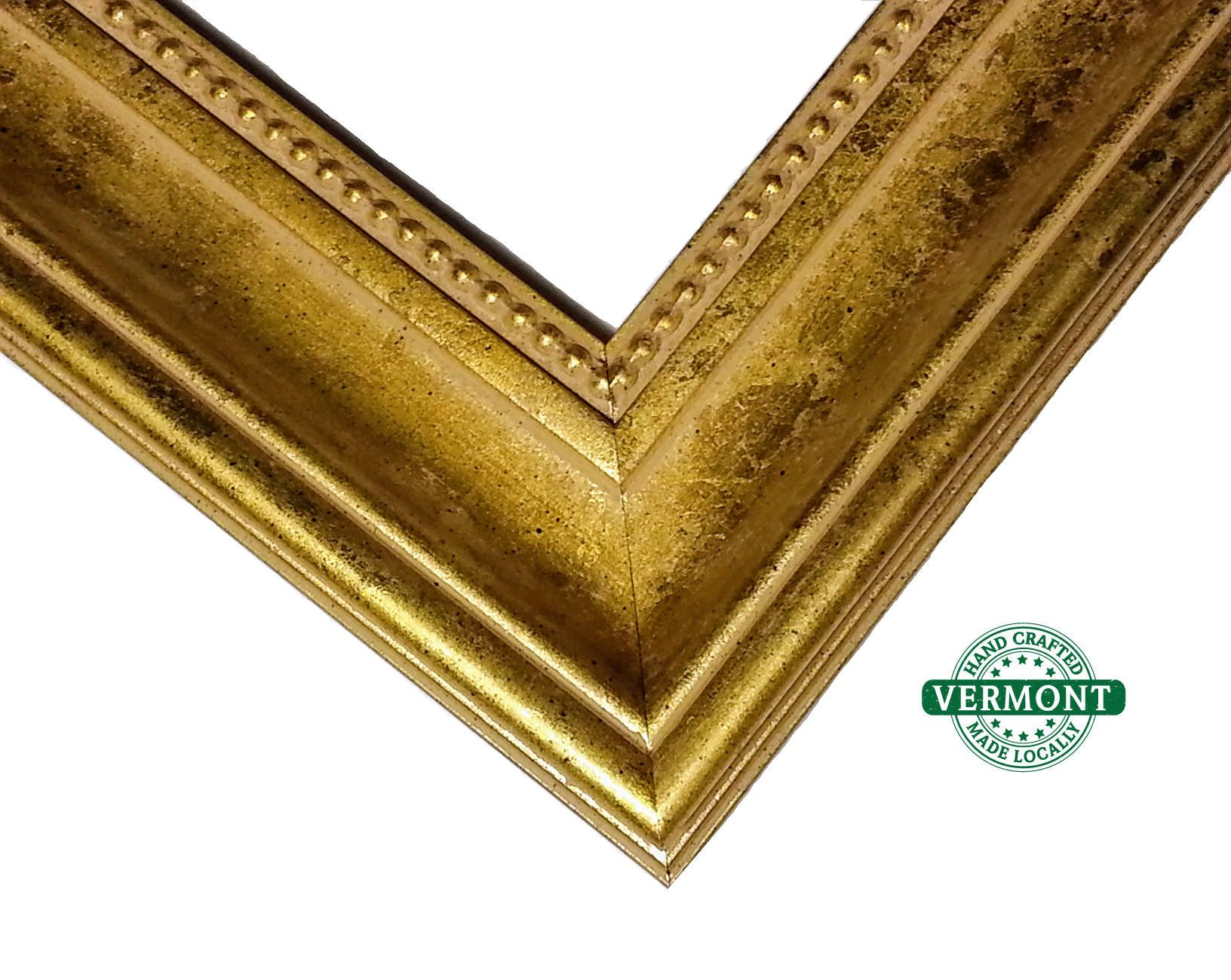 8x10 REAL Gold Picture Frame, Baroque Style, Antique Gold Leaf ...