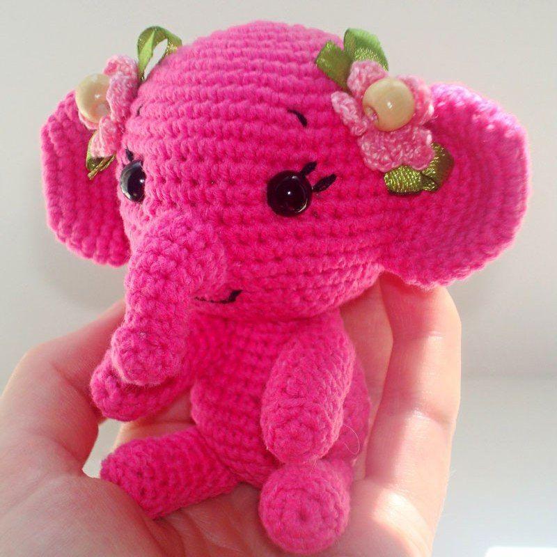 Free crochet elephant pattern (Amigurumi Today)   Elefantes, Fucsia ...