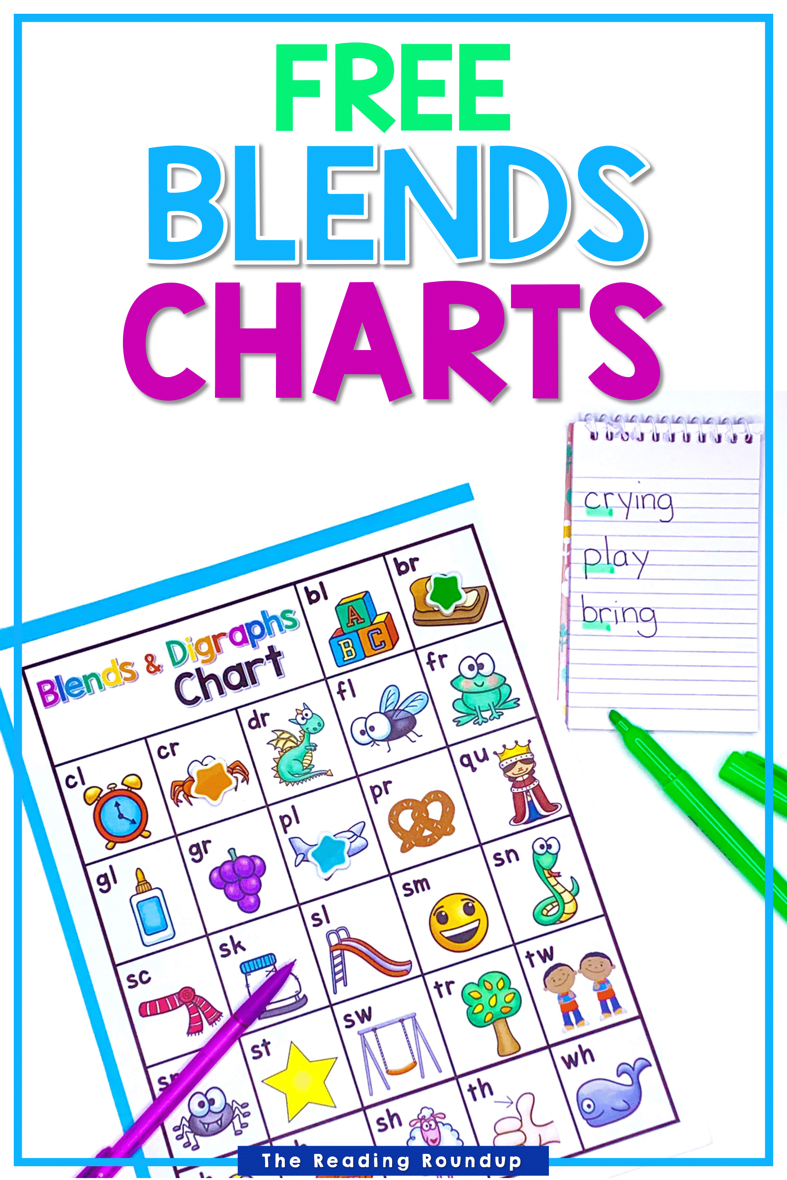 Blends Amp Digraphs Chart Free In With Images