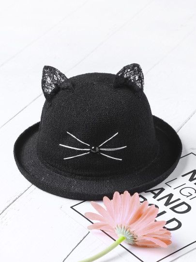 Sombrero con estampado con oreja de gato  9eea4673cb9
