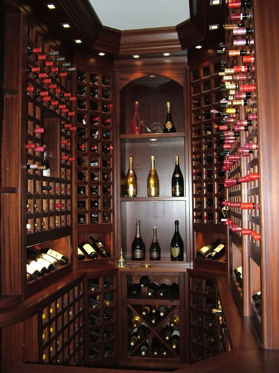 Custom Wine Room by woodwork Refined tradicional all wood Wine