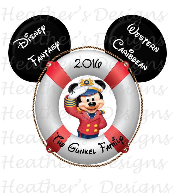 4x6 Disney Cruise Stateroom Door Magnet PERSONALIZED CAPTAIN MICKEY