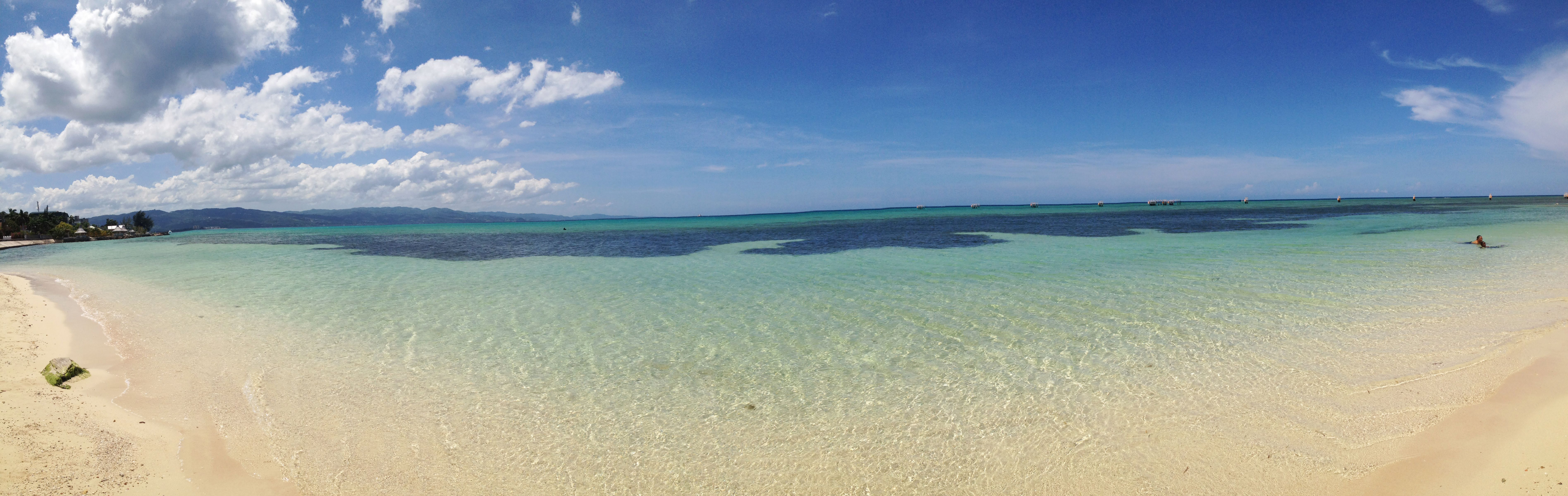 One of the beaches in Montego Bay, Jamaica