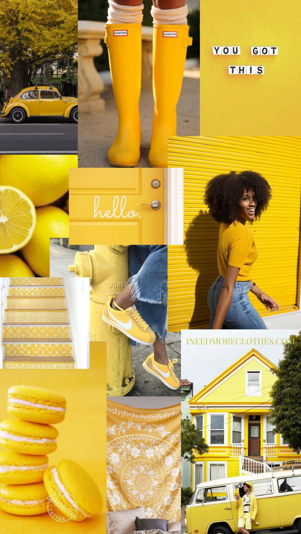 Aesthetic Moodboard Vintage Pastel Yellow Aesthetic Wallpaper