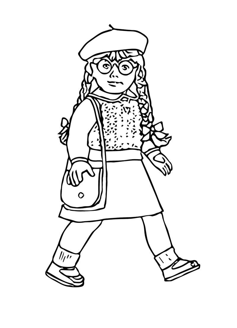 Printable Coloring Pages Of The American Girl Doll Samantha