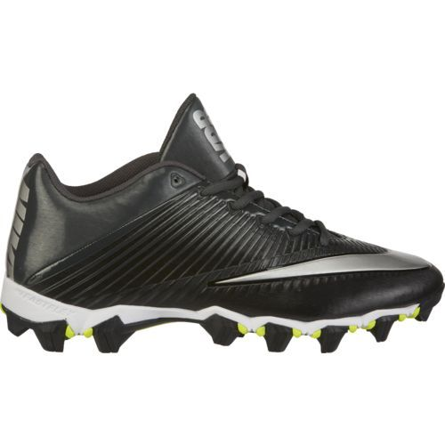 Nike Men's Vapor Shark 2 Football Cleats (Black/Metallic Silver/Anthracite,  Size