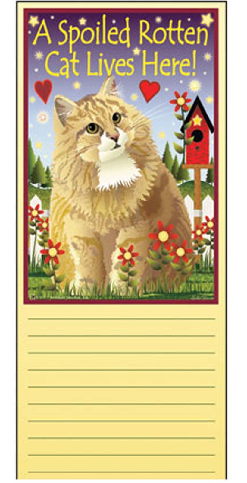 Jeremiah Junction Memo Pad SPOILED CAT LIVES HERE