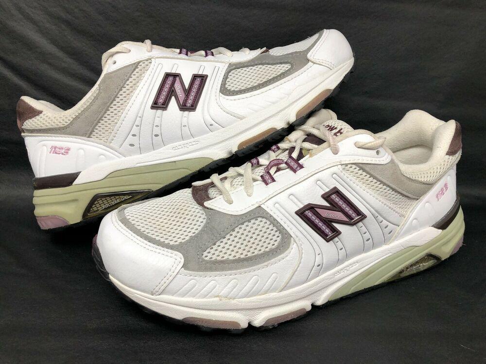 64d84afd50 NEW BALANCE 1123 White/Purple Sz 11 D Woman's Athletic Shoes ...