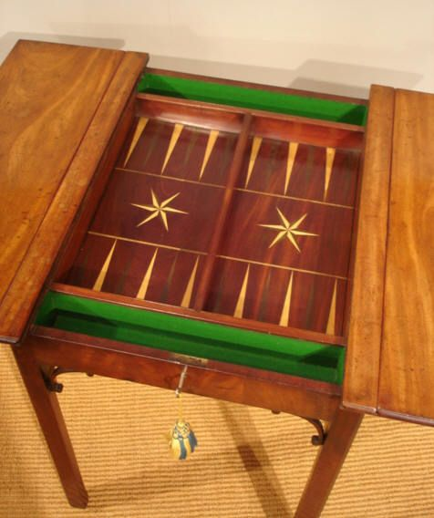 Amazing Antique Games Table / Georgian Chess And Backgammon Table
