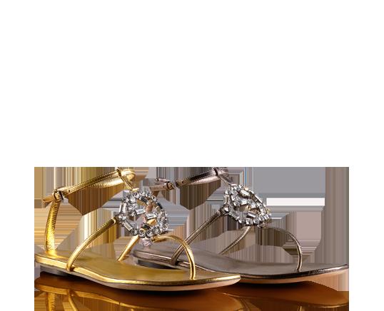 Sandales Lanière Gucci - Métalliques gaqo2