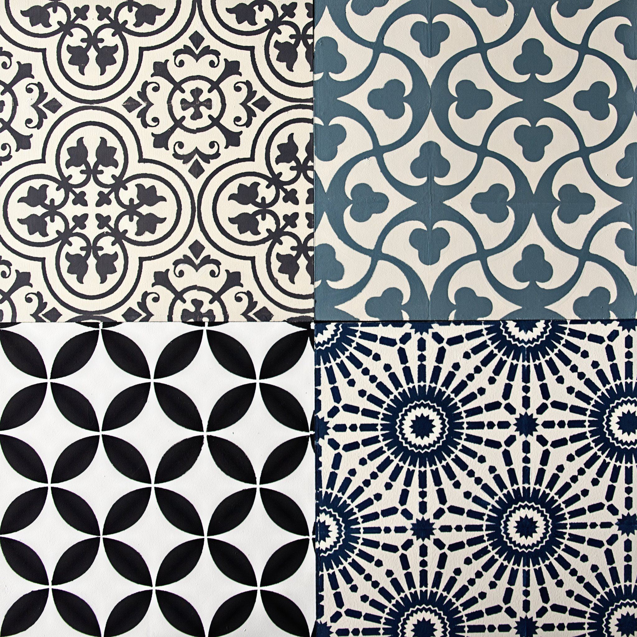 Mesh Stencil Floor Tile Traditional 12x12 In 2020 Stenciled Floor Stenciled Tile Floor Cement Tile Shop