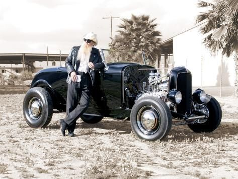 'Billy F. Gibbons Hot Rod' Photographic Print - David Perry | Art.com