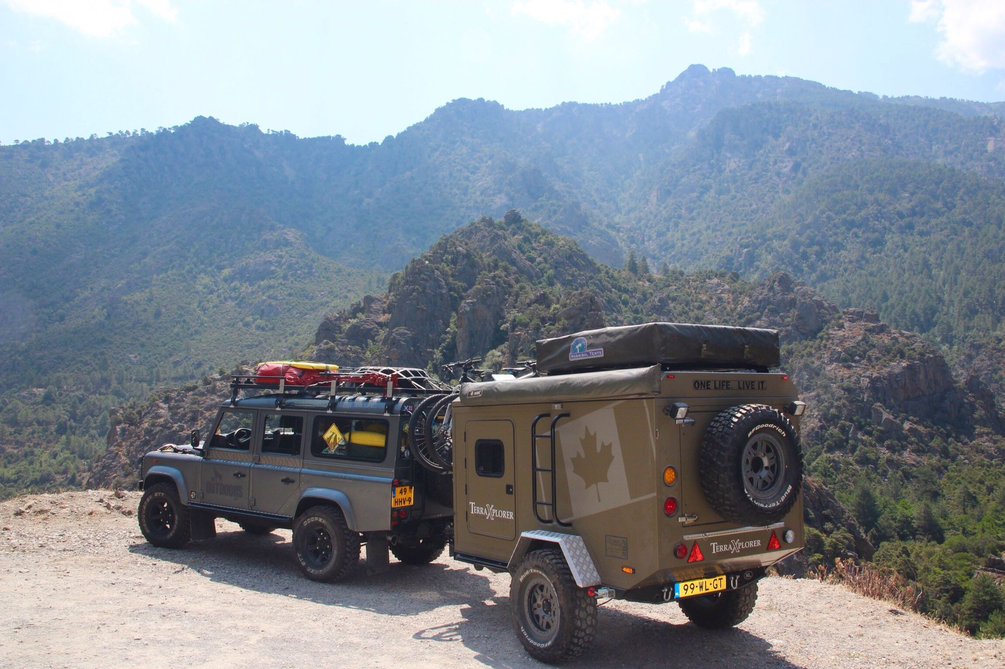Land Rover Defender With My Offroad Trailer Off Road Trailer
