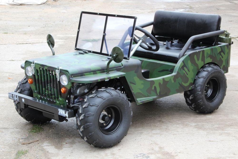 xtc jeep willys kinderauto 125ccm 4 takt motor 2 sitzer. Black Bedroom Furniture Sets. Home Design Ideas