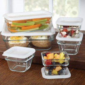 Libby Glassware Save 'n Store 12Piece Set, Rectangle