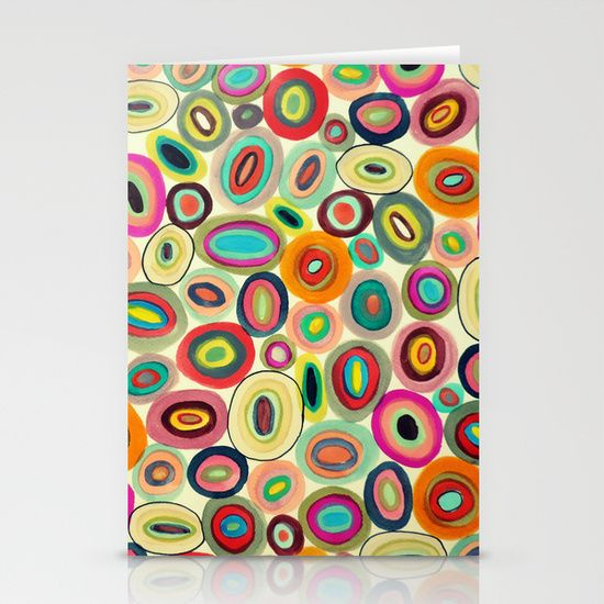 running in circles Stationery Cards