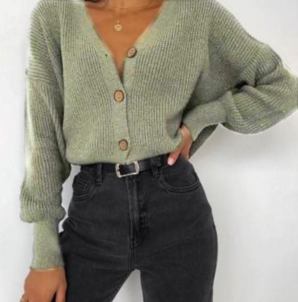 Women's Fashion Pure Color Long-sleeved Knit Top – linenlooks