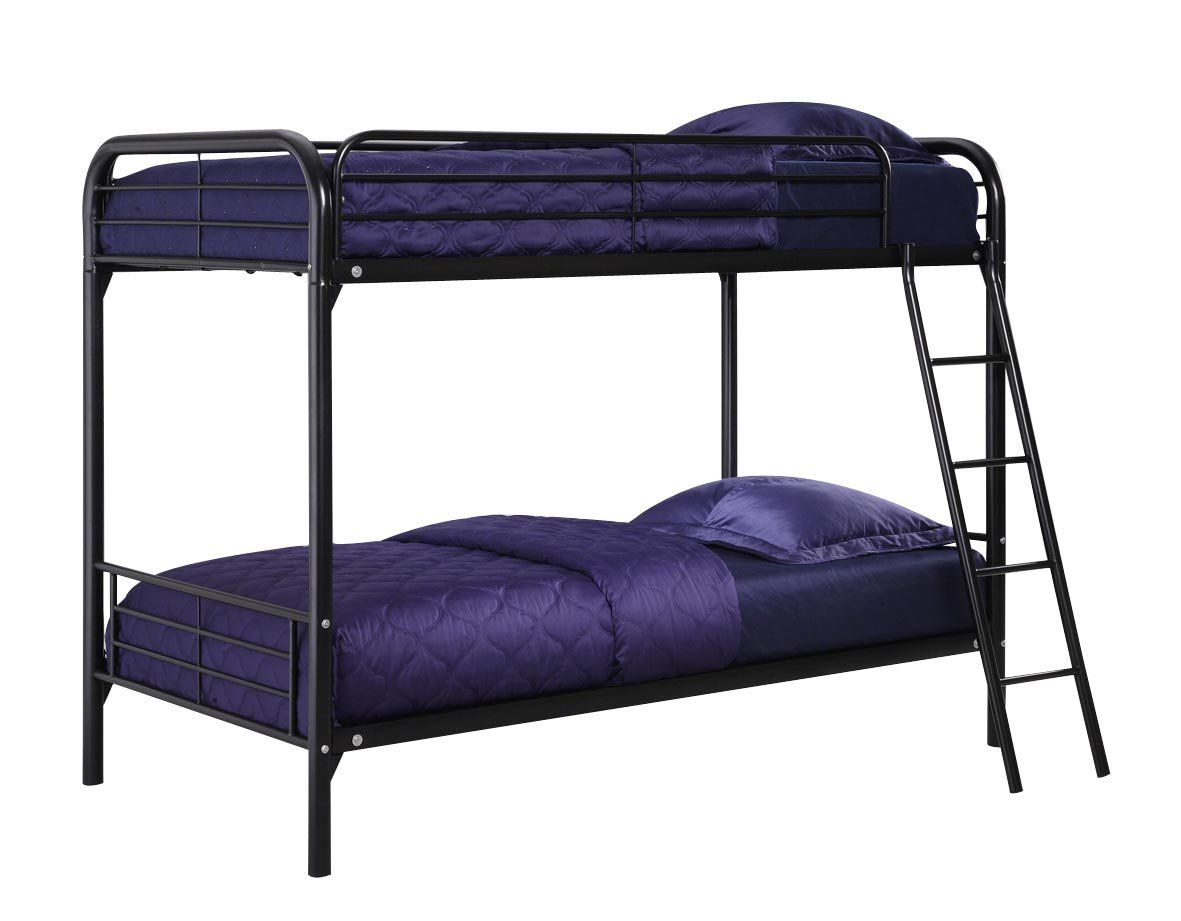 Amazon.com - DHP Twin Over Twin, Metal Bunk Bed - Black -