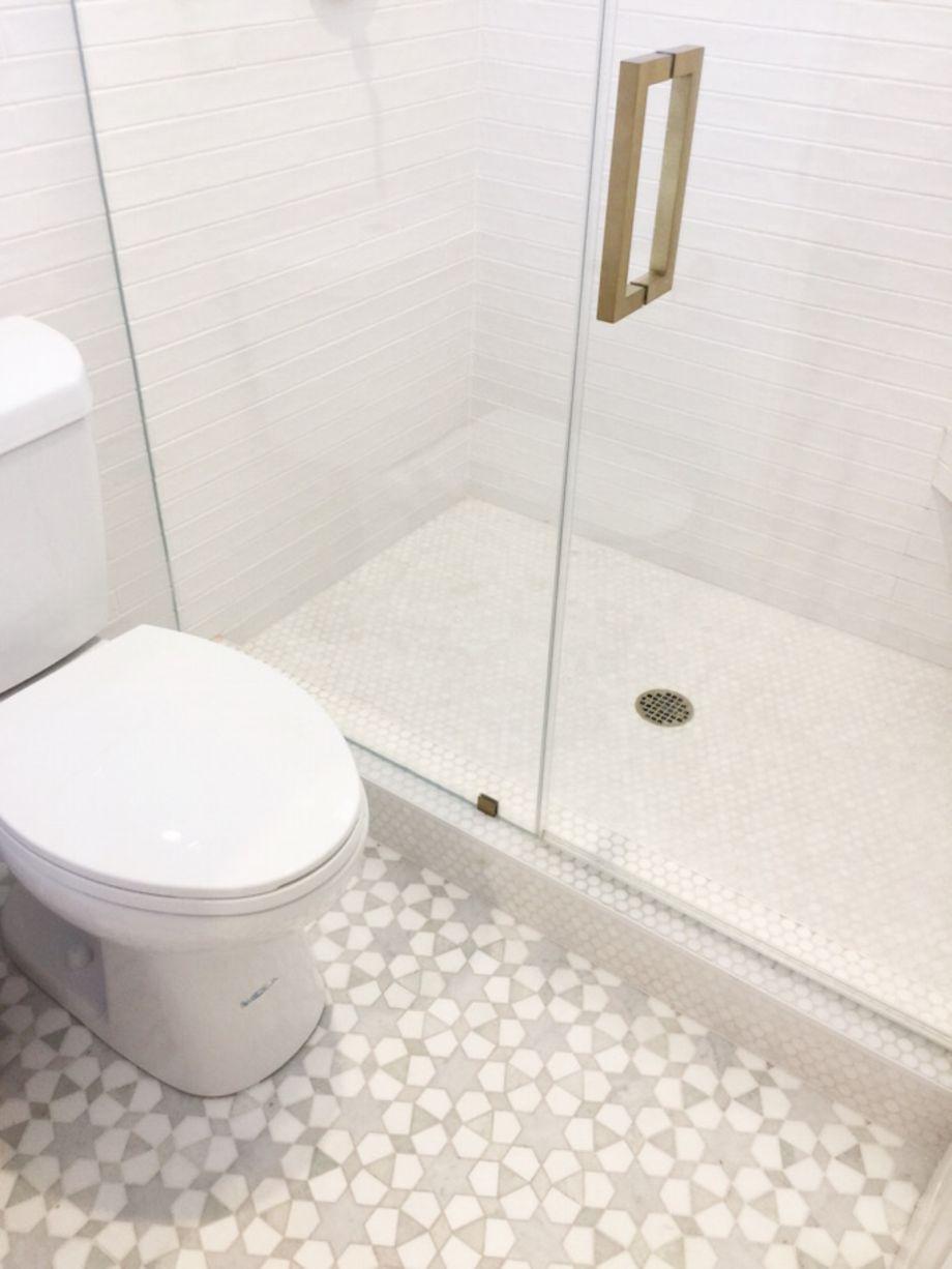 Modern small bathroom tile ideas 073 | Small bathroom tiles, Modern ...