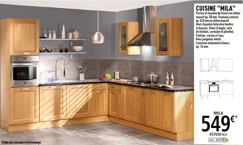 Cuisine Brico Dépôt Mila Cuisine Pinterest - Facade de meuble de cuisine brico depot pour idees de deco de cuisine
