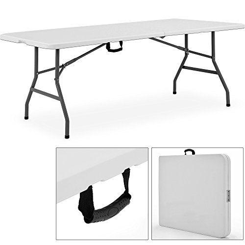 Amazon De Buffettisch Klapptisch Mehrzwecktisch 240x76 Cm Tisch Klappbar Buffettisch Gartentisch Gunstig Klapptisch