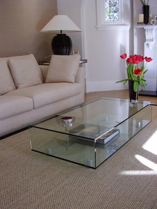 Bespoke Glass Coffee Table Table Decor Living Room Glass Table Living Room Living Room Table