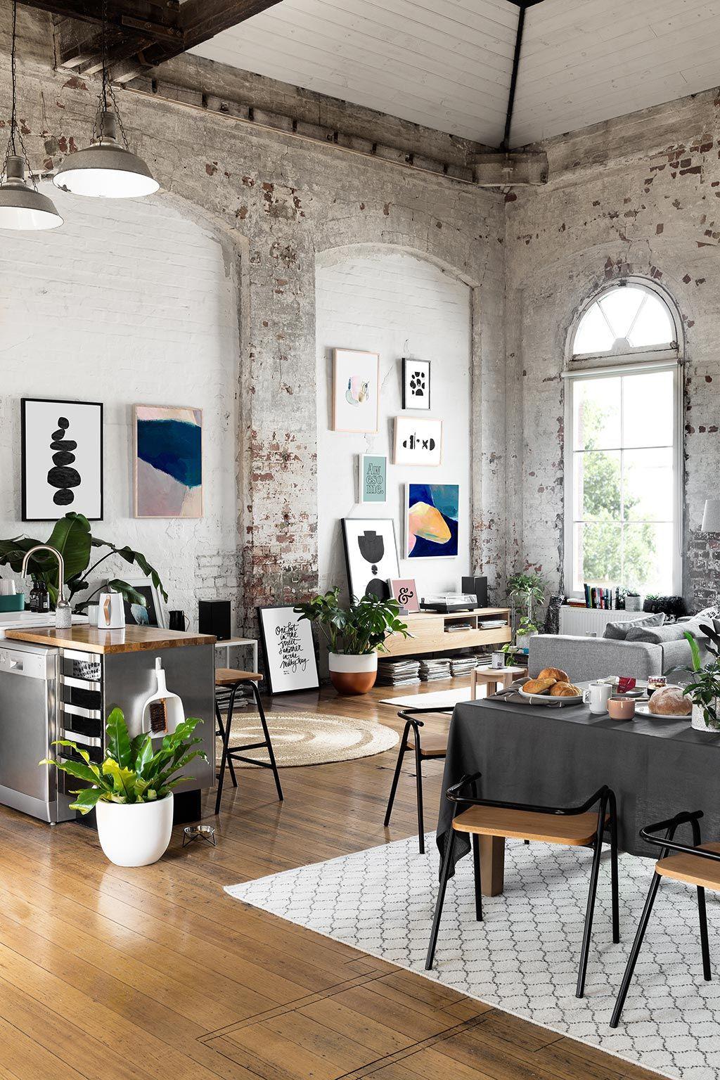 Стиль лофт в современном интерьере | Wohnen, Wohnzimmer und ...