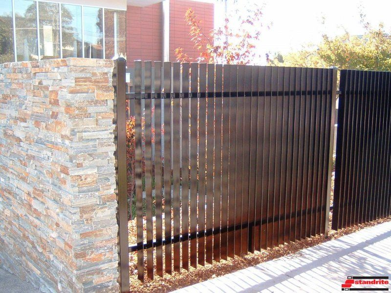 Blade Fence Fence Ideas Pinterest Fences Front