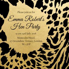 Leopard Print Animal Hen Party Invitations