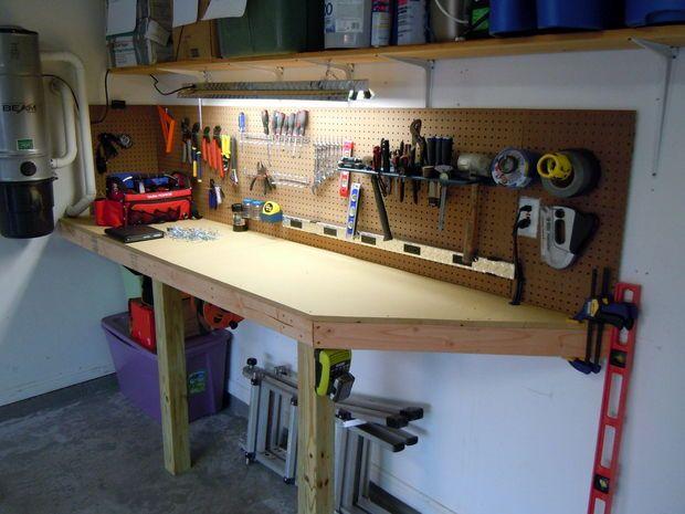 Custom garage workbench workshop ideas pinterest for Custom garage workshop