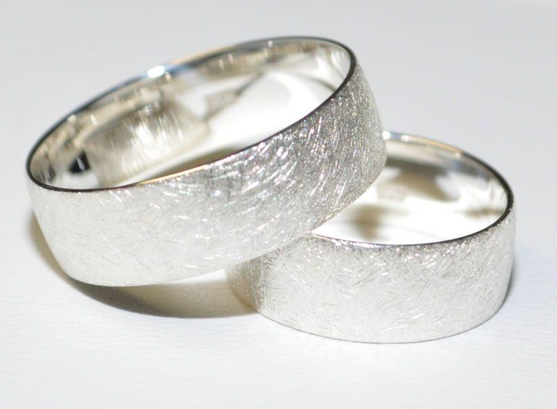 925 Silber Trauringe Eheringe Hochzeitsringe  Paarpreis