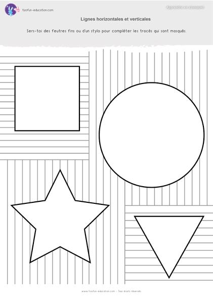 8 pdf fiche maternelle gs graphisme lignes horizontale et verticale completer a imprimer kil. Black Bedroom Furniture Sets. Home Design Ideas