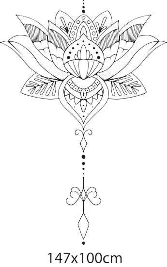 Flor De Lotus Preta Desenho