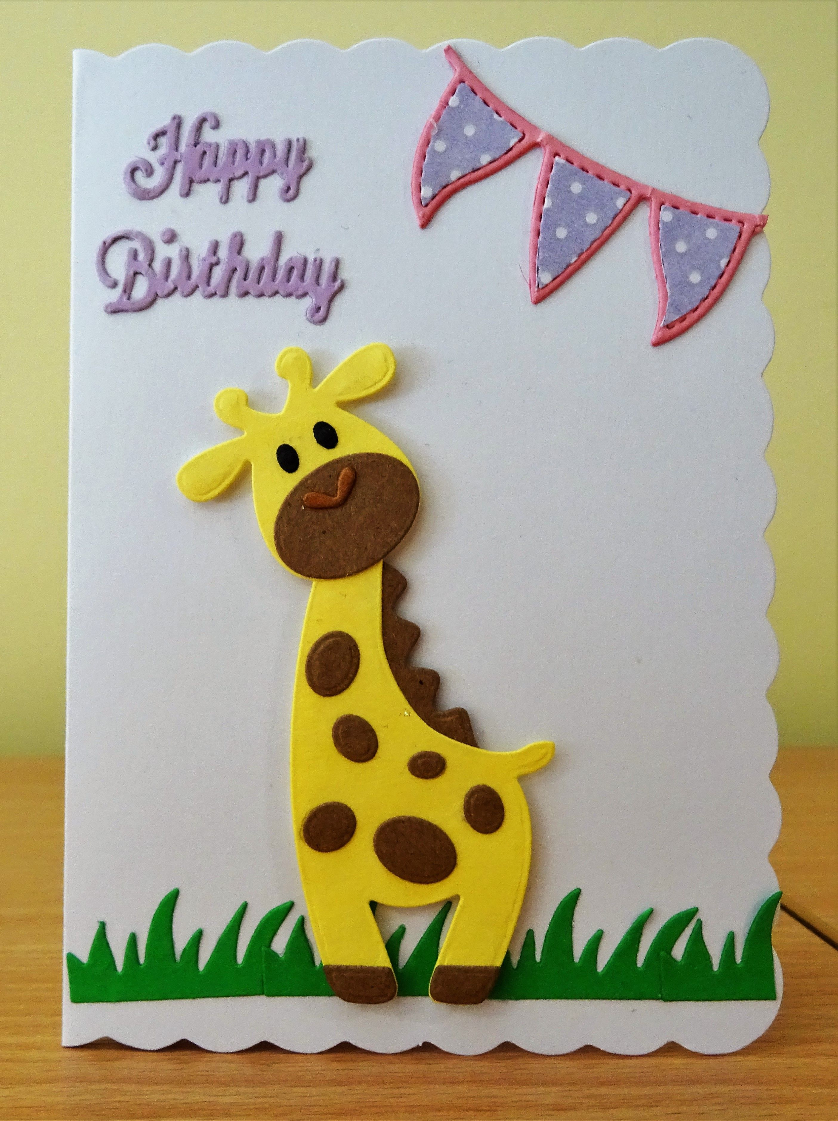Handmade Birthday Card Marianne Collectables Giraffe Die For More Of My Cards Please Visit The C Cards Handmade Homemade Birthday Cards Handmade Craft Cards