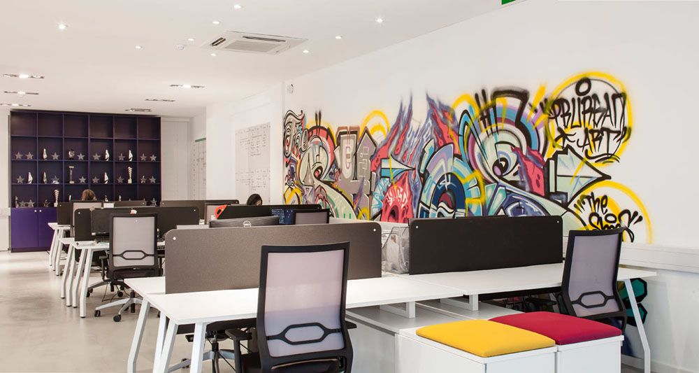 Verve dublin office space design 12 employing striking Creative interior design
