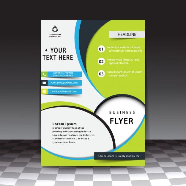Modern stylish business flyer template Free Vector Design - free pamphlet templates