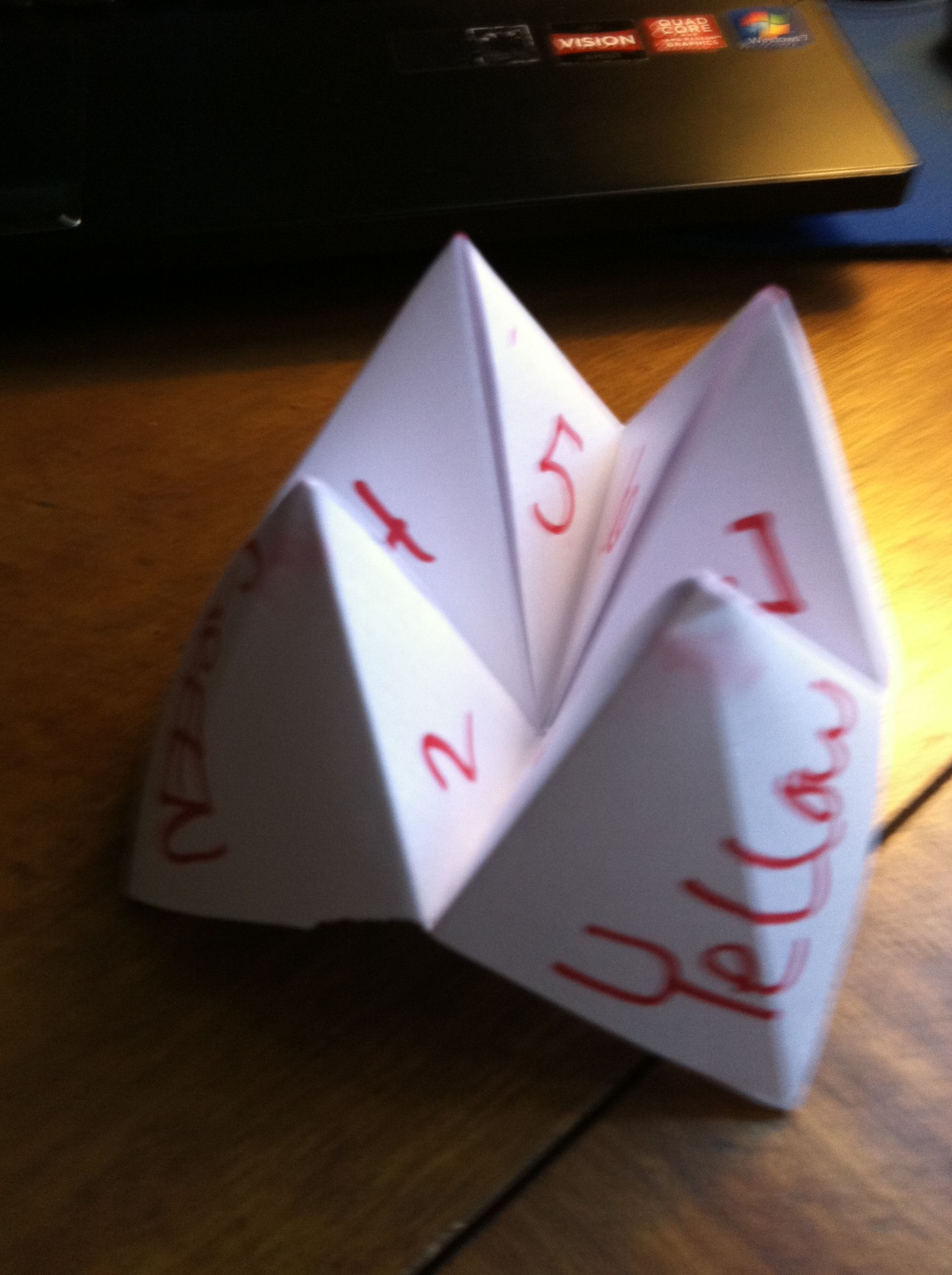 90's kids know all about this fun paper fortune teller!!! It funny