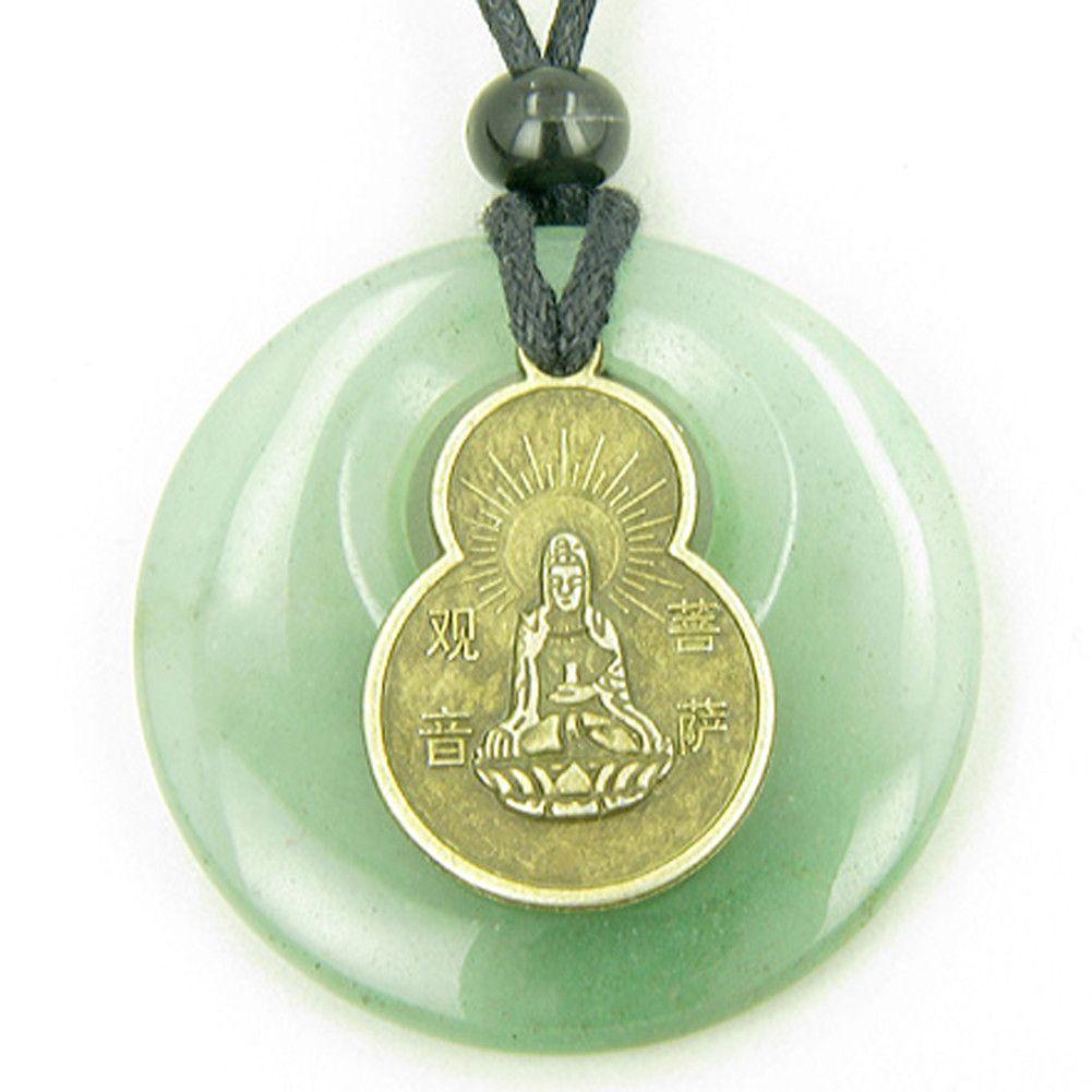 Magic Circle Kwan Yin Quan Tibetan Money Talisman Coin Pendant Necklace Talisman Kwan Yin Coin Pendant Necklace
