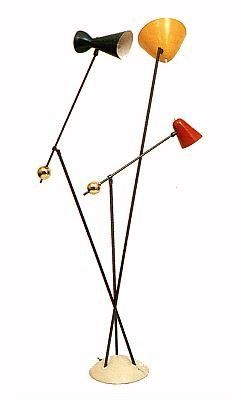 boris lacroix brass and painted metal floor lamp for mathieu 1950s low lighted pinterest. Black Bedroom Furniture Sets. Home Design Ideas