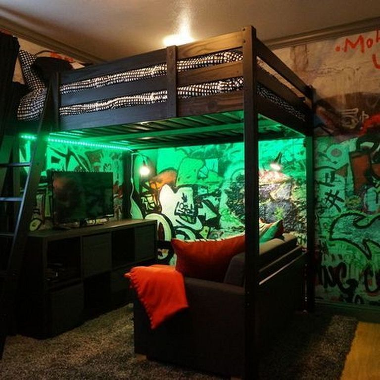 20 Cool And Fun Loft Bedroom Ideas For Tennage Boys Remodel Bedroom Small Room Bedroom