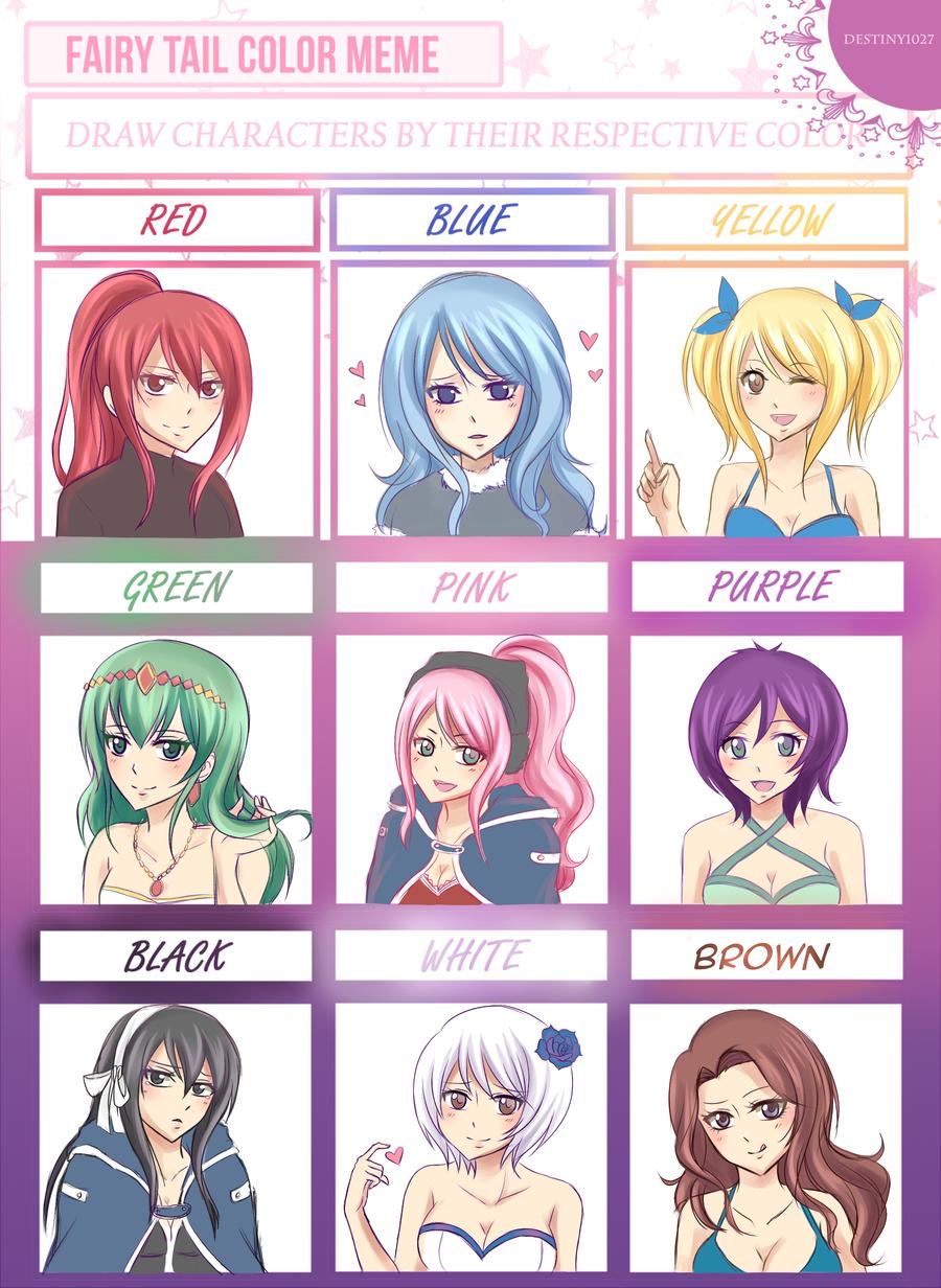 Fairy Tail Color Meme by Destiny1027 Fairy tail