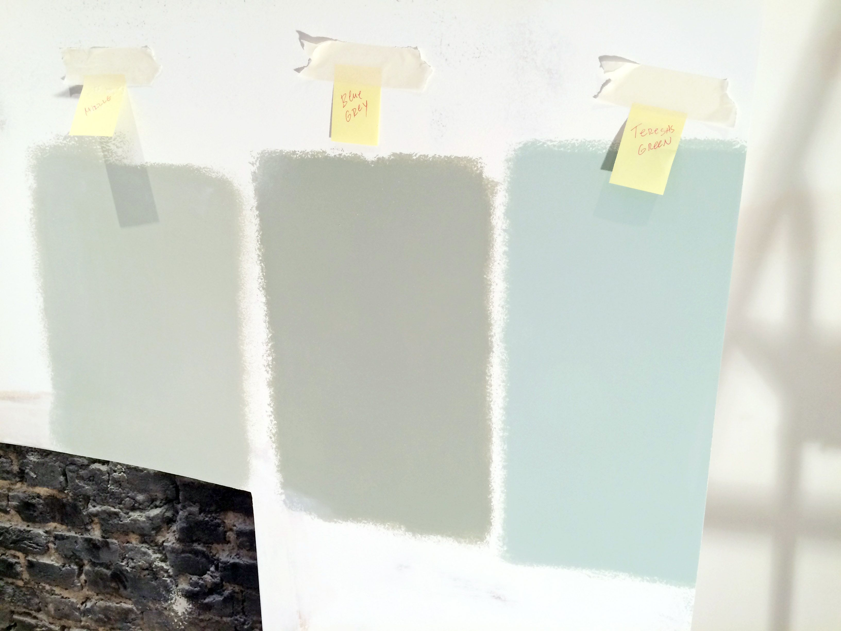 apm farrow and ball paint swatches mizzle 266 blue gray 91 teresa 39 s green 236 these are all. Black Bedroom Furniture Sets. Home Design Ideas