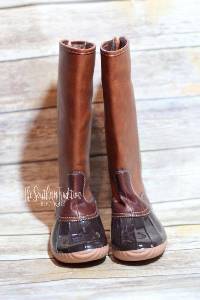 Wide Calf Tall Duck Boot | Boots, Duck