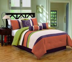 Easy as 1,2,3: How to Decorate with a Triadic Color Scheme: Retro Orange, Green and Purple