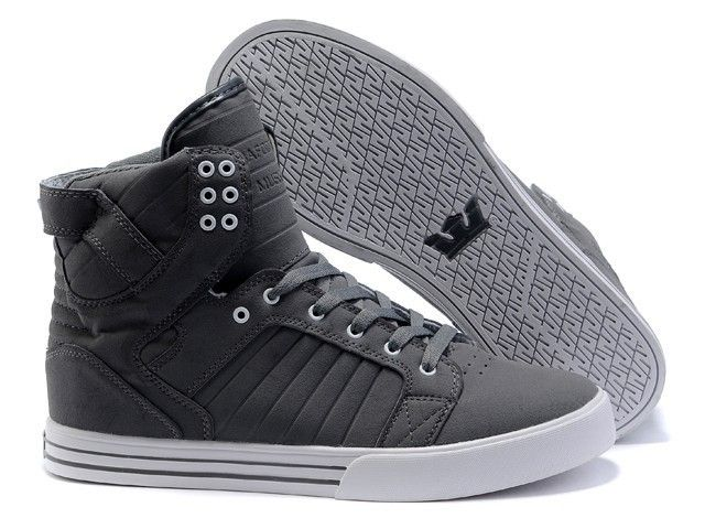 a22d0c0c20b Supra Skytop Gray White Mens High Tops | Shoes to Buy | White shoes ...