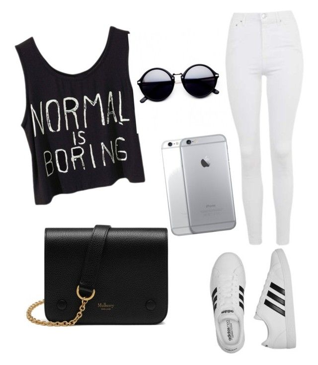 Casual by kelsey0024 on Polyvore featuring polyvore, fashion, style, Topshop, adidas, Mulberry and clothing