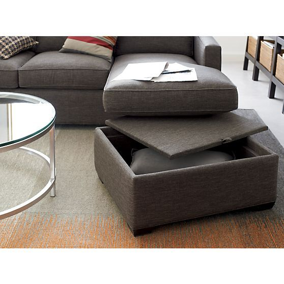 Davis 3 Seat Lounger Sofa In Sectional Sofas Crate And Barrel